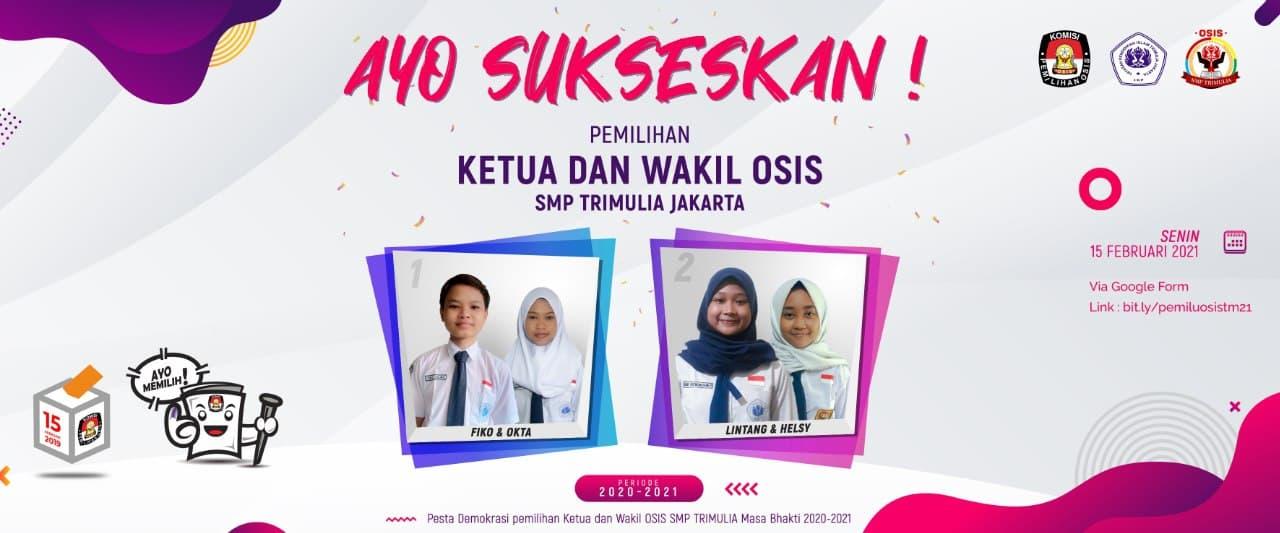 SMP TRIMULIA JAKARTA Sukses Gelar Pemilihan Ketua-Waket OSIS Secara Online